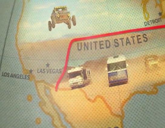 The Grand Tour – Las Vegas on the map series logo (title)