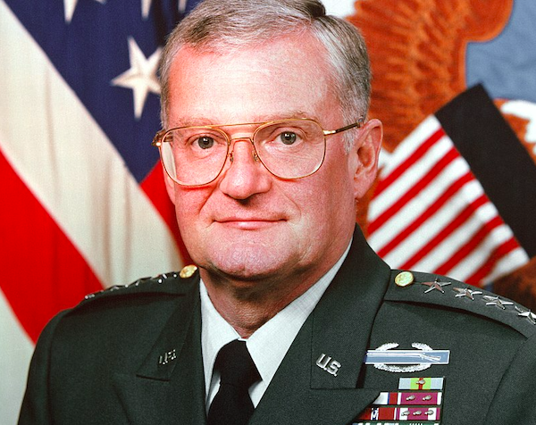 General John Shalikashvili on 6 August 1993. Credit: Russell Roederer