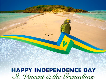 Independence Day of Saint Vincent and the Grenadines. Retrieved from Facebook/Shop Courts