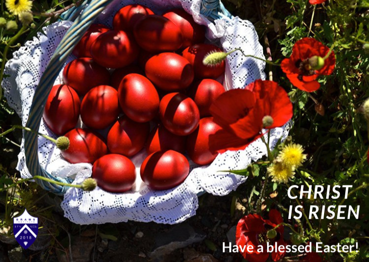 Red Easter eggs (2021). Credit to Shutterstock/BRAMS