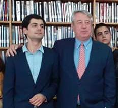 George Labadze and Professor Vasil Kacharava. Credit to George Labadze