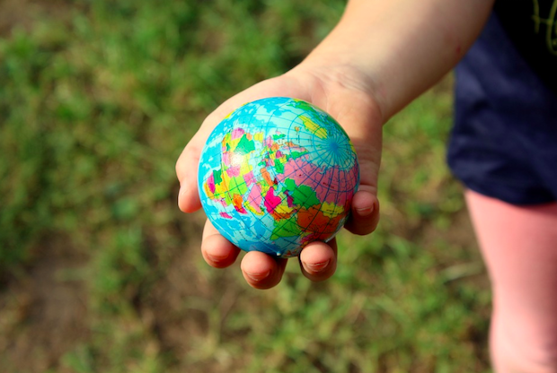 The globe in your hand. Credit: Alicja (title)