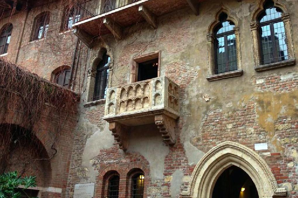 The balcony of Juliet in Verona, Italy