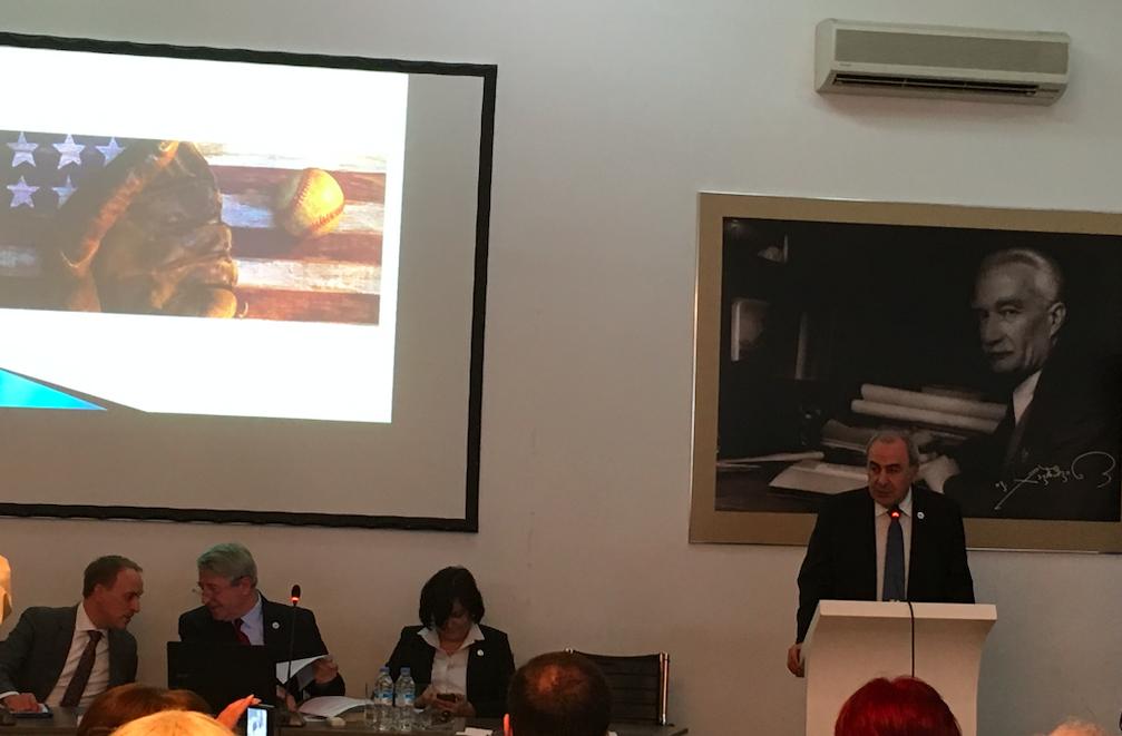 American Studies Conference 2019, President of Ivane Javakhishvili Tbilisi State University George Sharvashidze. Credit: BRAMS/Maia Nadareishvili