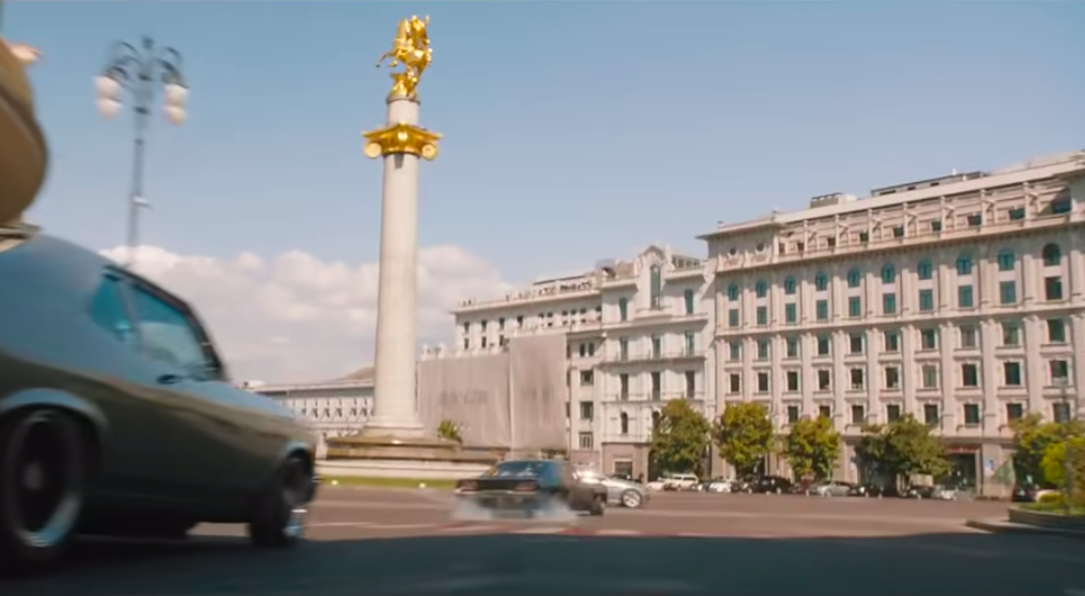 Freedom Square, Tbilisi (F&F9 Trailer). Credit to Universal Pictures