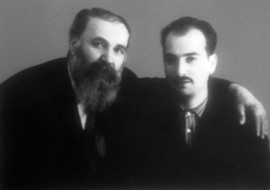 Galaktion (L) and Nodar (R) Tabidze. Credit to Nodar Tabidze archive/BRAMS