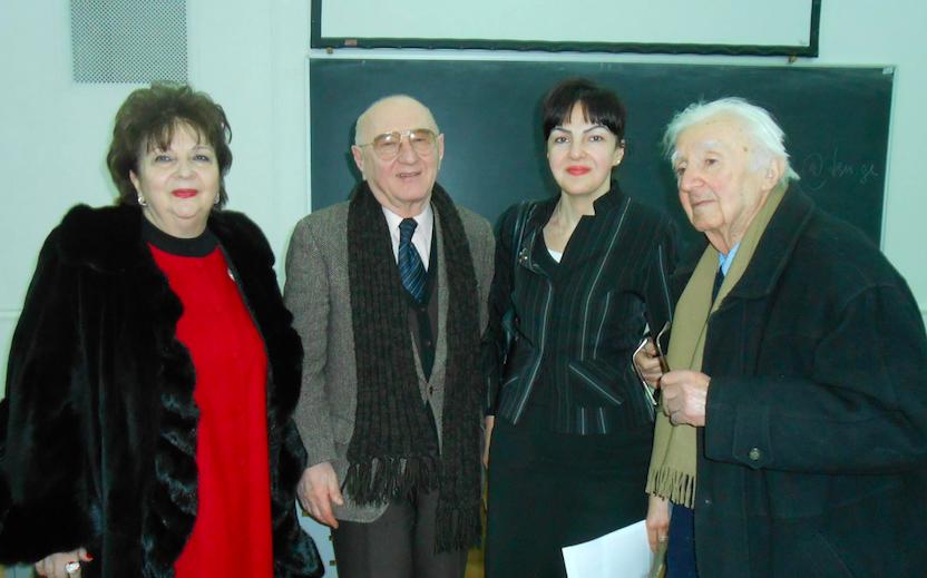 TSU Professors Innes Merabishvili, Tamaz Gamkrelidze Lela Ebralidze, and Mamia Ebralidze (L-R). Credit to Maia Ebralidze