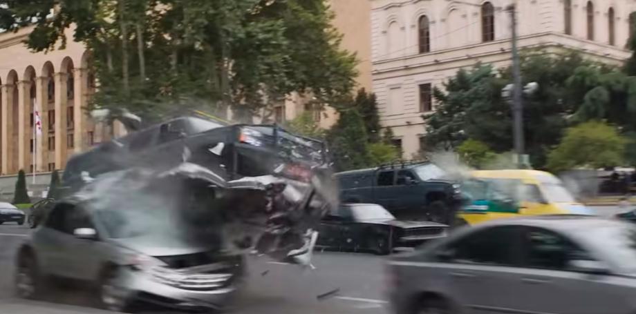 Rustaveli Avenue, Tbilisi (F&F9 Trailer). Credit to Universal Pictures