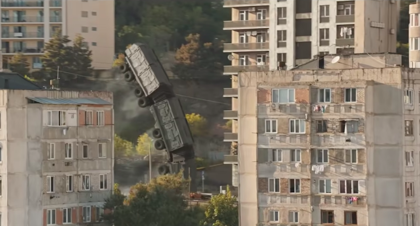 A flight between Nutsubidze Plateau 3 and 4, Tbilisi (F&F9 Trailer). Credit to Universal Pictures