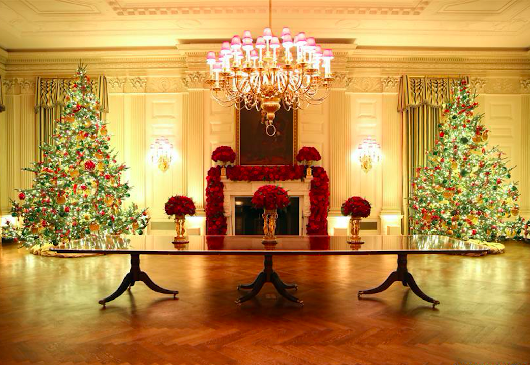 Christmas decorations at the White House on 2 Dec 2019. Credit: Xinhua/Hu Yousong