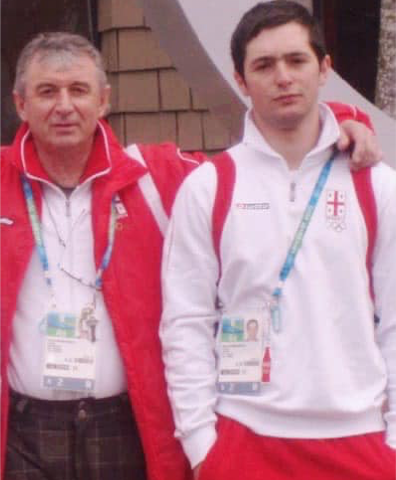 Felix Kumaritashvili (1957-2020) and his nephew Nodar Kumaritashvili (1988-2010). Credit to Mariam Kumaritashvili