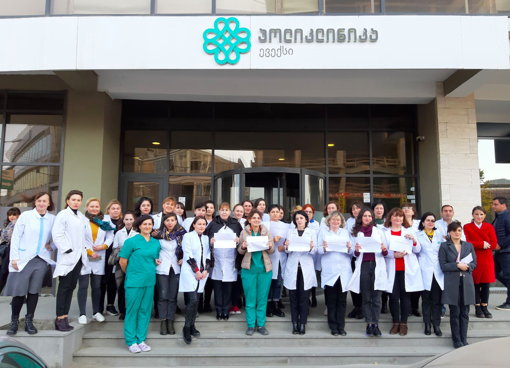 Evex Medical Corporation joins the rally of White Smocks in Georgia. Credit: GHN