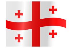 Flag of Georgia waving