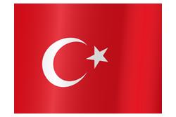 Flag of Turkey waving