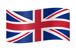 UK Flag waving